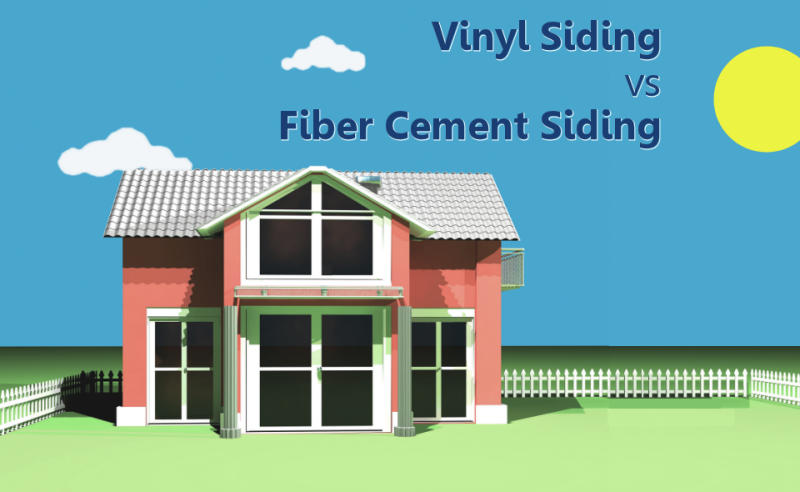 Vinyl Siding vs Fiber Cement Siding Infographic
